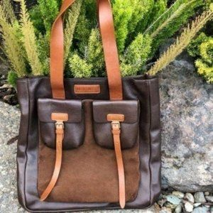 Marc by Marc Jacob Brown Leather & Suede Tote